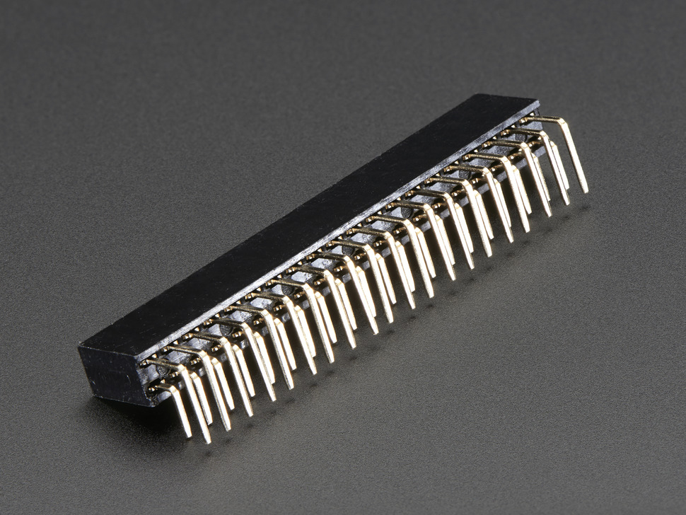 0.1 2x20-pin Strip Right Angle Female Header