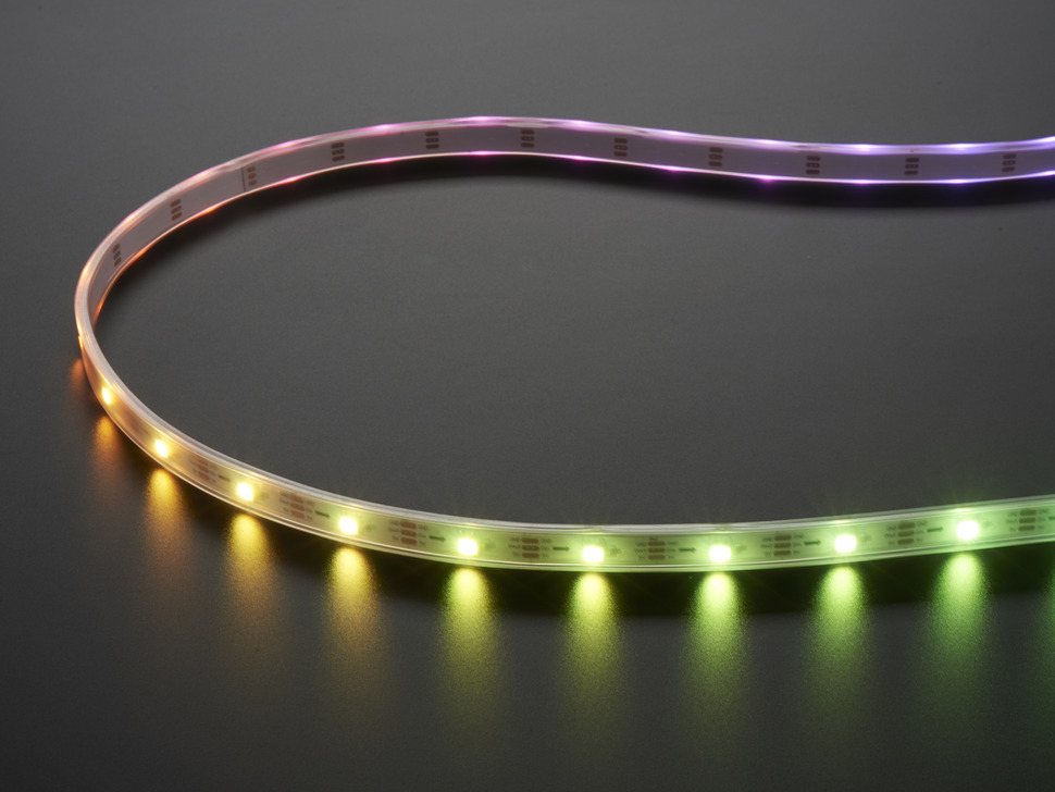 Adafruit NeoPixel Digital RGB LED Strip with different rainbow lights