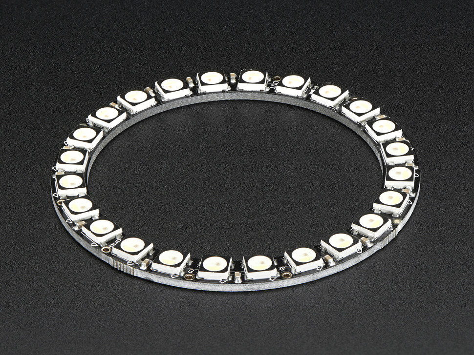 NeoPixel Ring - 24 x 5050 RGBW LEDs w/ Integrated Drivers - Natural White - ~4500K