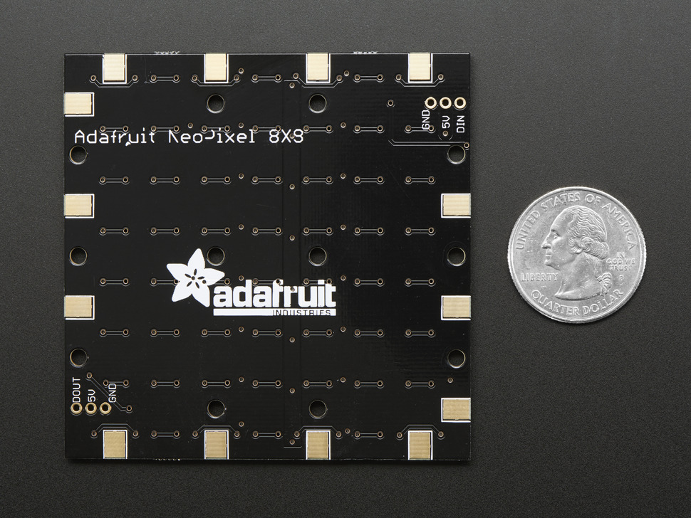 Adafruit NeoPixel NeoMatrix - 64 RGBW - Natural - ~4500K