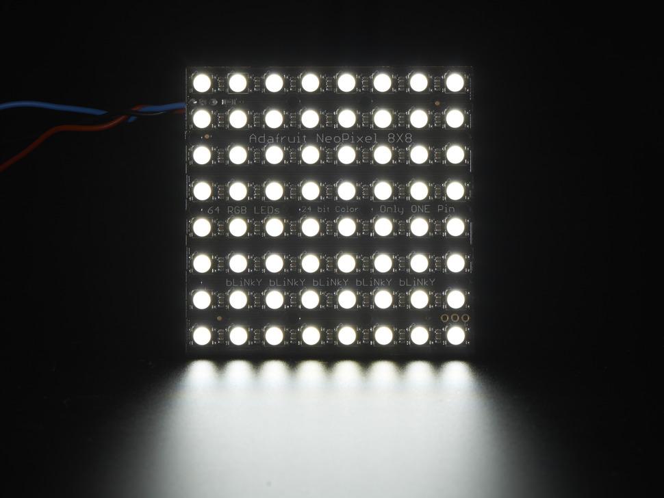 Adafruit NeoPixel NeoMatrix - 64 RGBW - Cool White - ~6000K