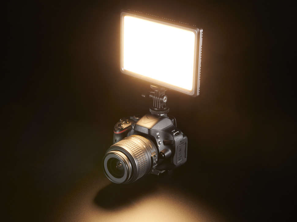 Camera-Mount LED Photography Light - CIE Ra 95 - 3200K to 5600K