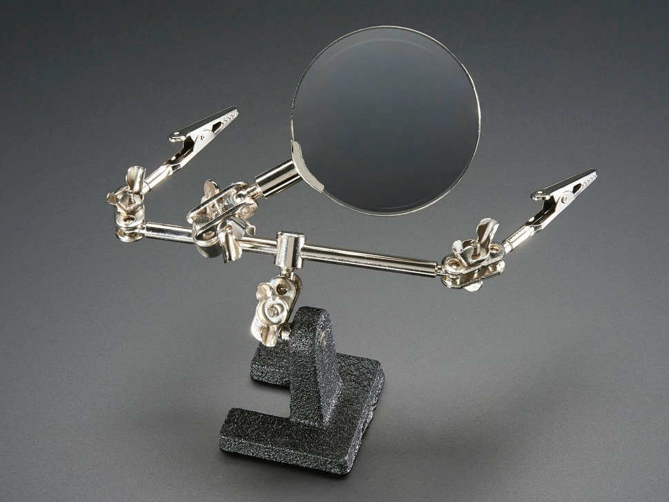 Third Hand Magnifier with two alligator grabbers and Magnifying Glass