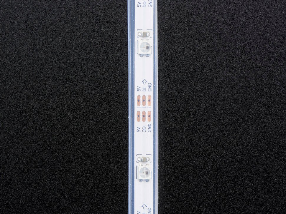 Adafruit Mini Skinny NeoPixel Digital RGB LED Strip - 30 LED/m - WHITE