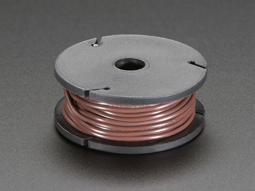 Small spool of brown wire