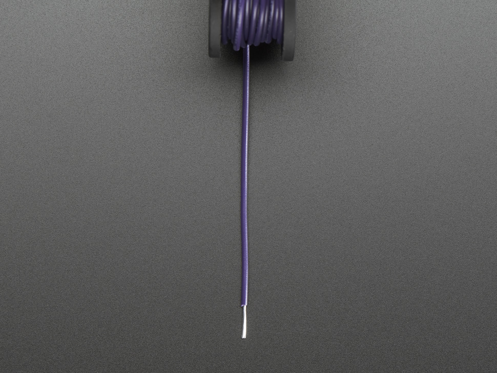 Stranded-Core Wire Spool - 25ft - 22AWG - Violet