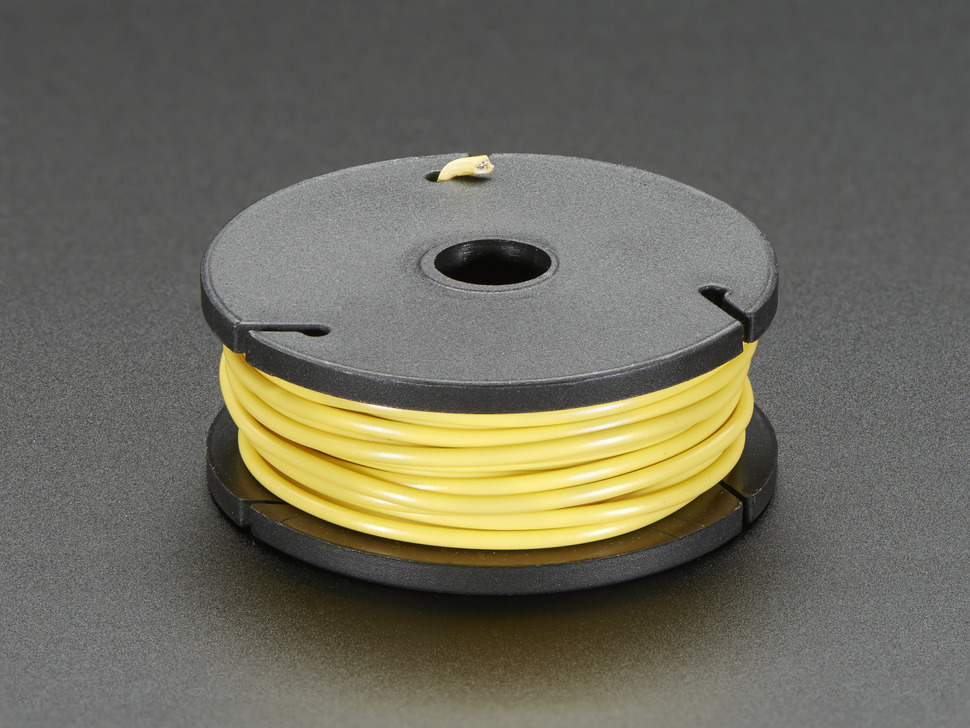 Small spool of yellow wire