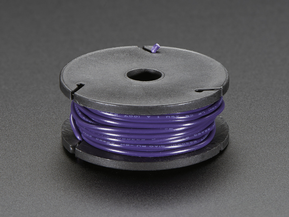 Small spool of violet wire