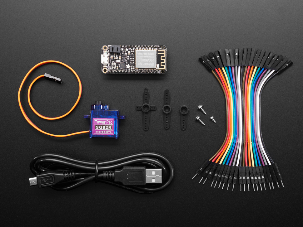 Paper Signals Bundle with Feather, servo and various wires.