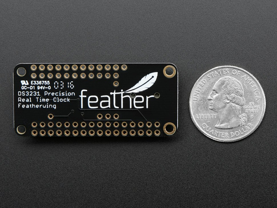 DS3231 Precision RTC FeatherWing - RTC Add-on For Feather Boards