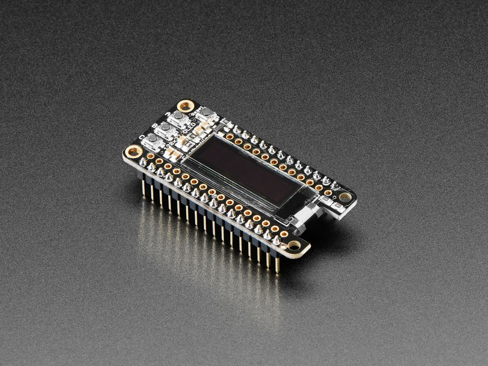 Assembled Adafruit FeatherWing OLED - 128x32 OLED Add-on For Feather