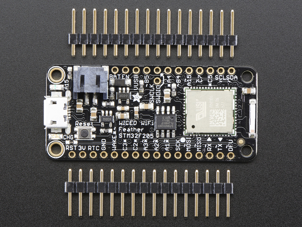 Adafruit WICED WiFi Feather - STM32F205 with Cypress WICED WiFi