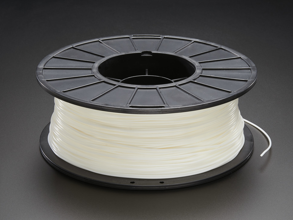 PLA Filament for 3D Printers - 1.75mm Diameter - Natural White