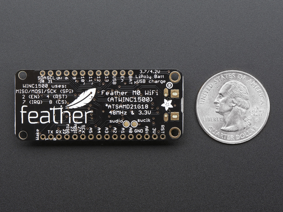 Adafruit Feather M0 WiFi with uFL - ATSAMD21 + ATWINC1500