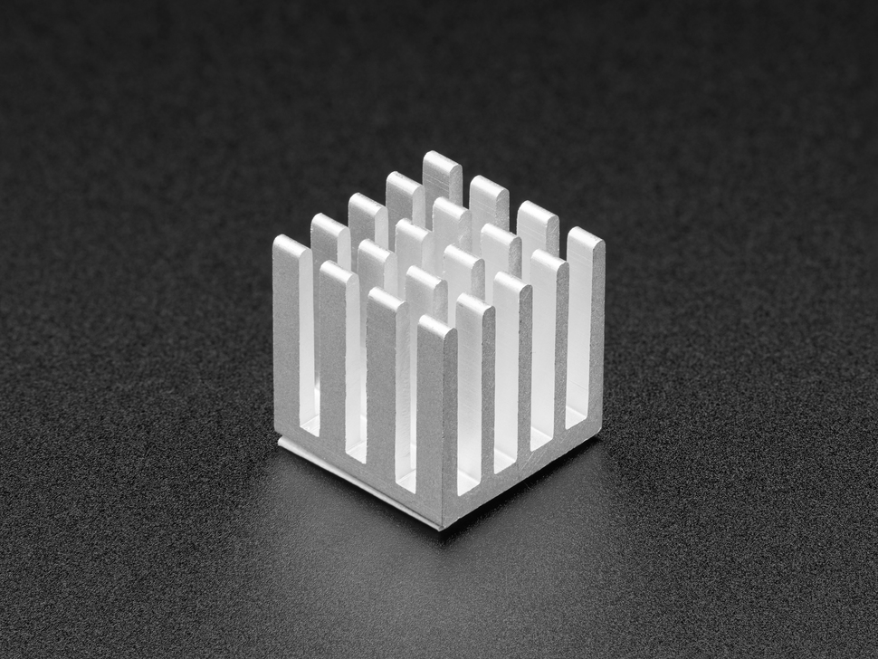 Square aluminum heat sink with 20 fins