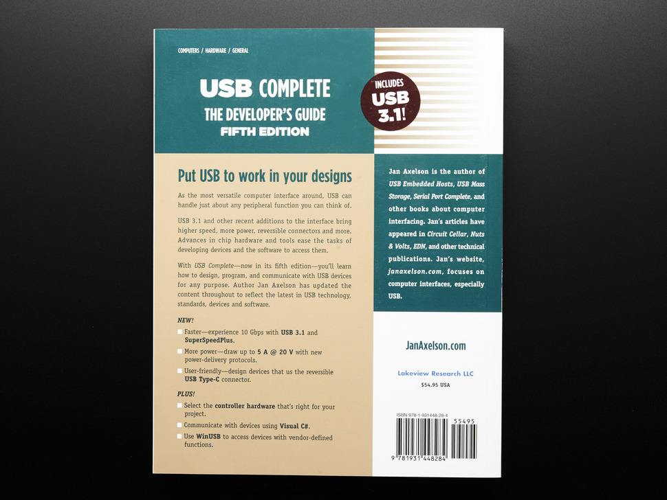 Back cover of Front cover of USB Complete: The Developer's Guide by Jan Axelson.