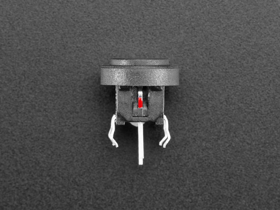 Top-down shot of mini push-button