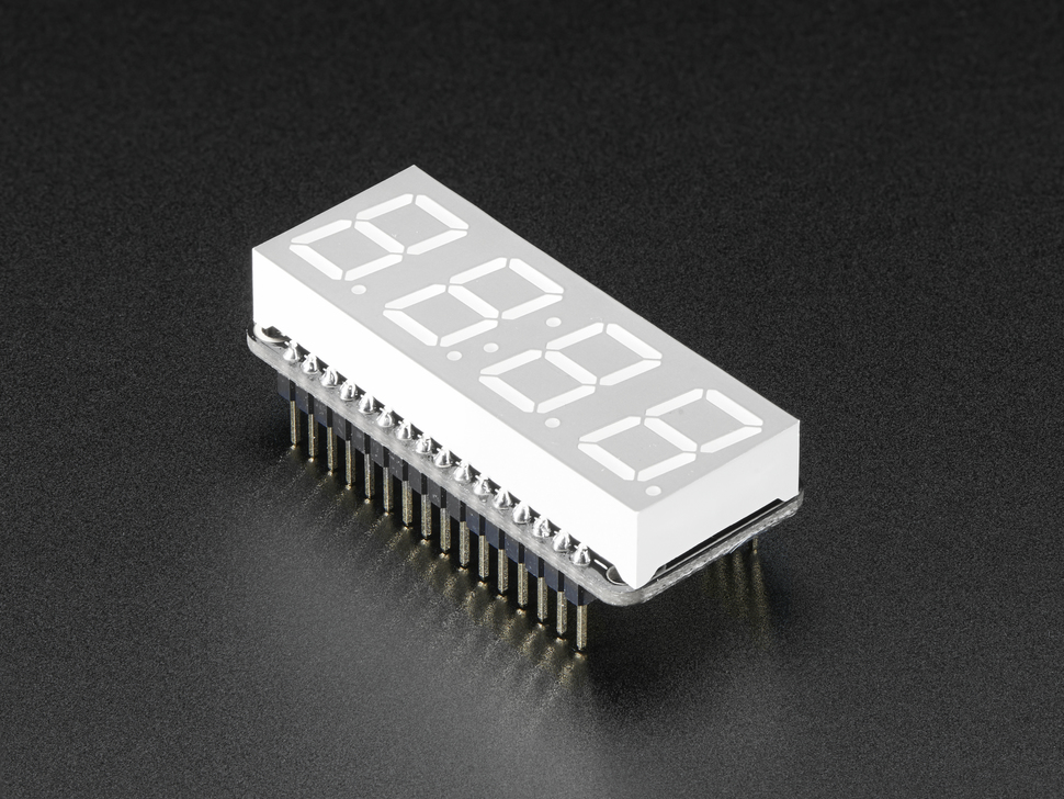 "Adafruit 0.56"" 4-Digit 7-Segment FeatherWing Display - Green"