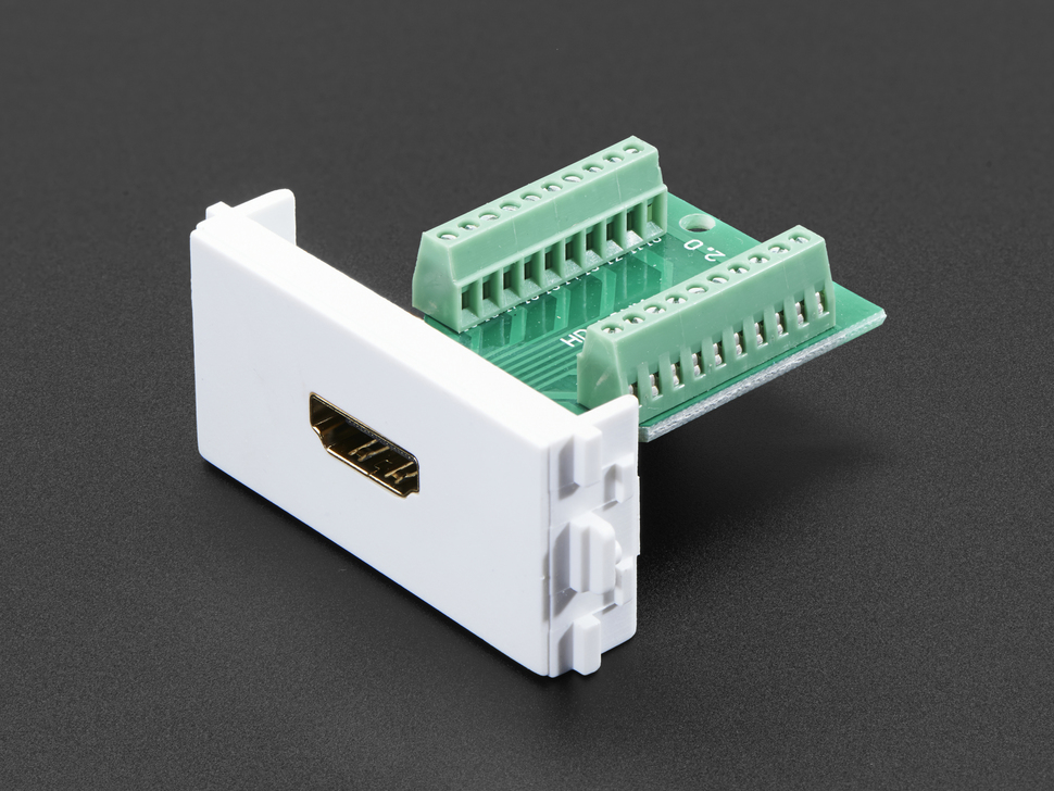 Panel Mount HDMI Socket to Terminal Block Breakout