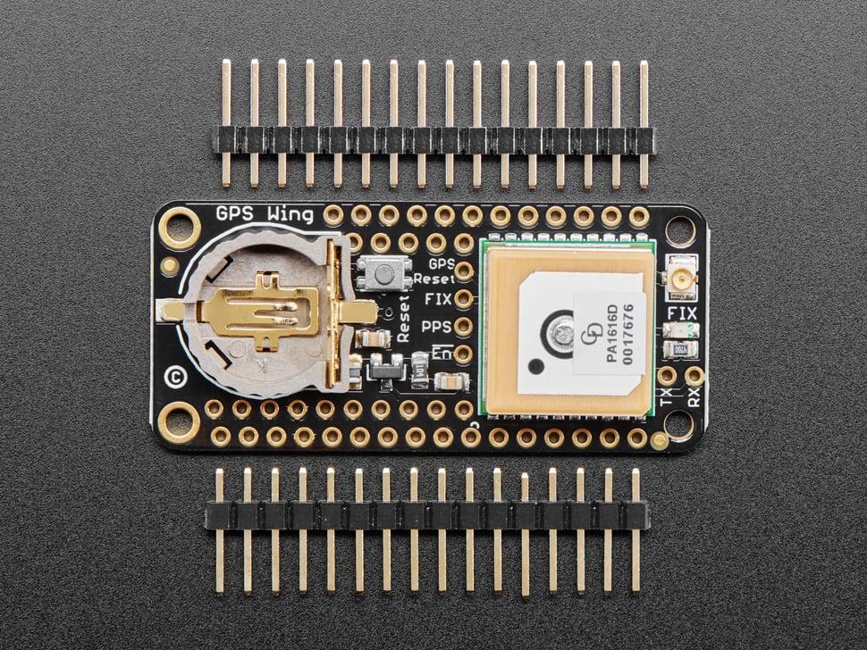 Kit shot of Adafruit Ultimate GPS FeatherWing
