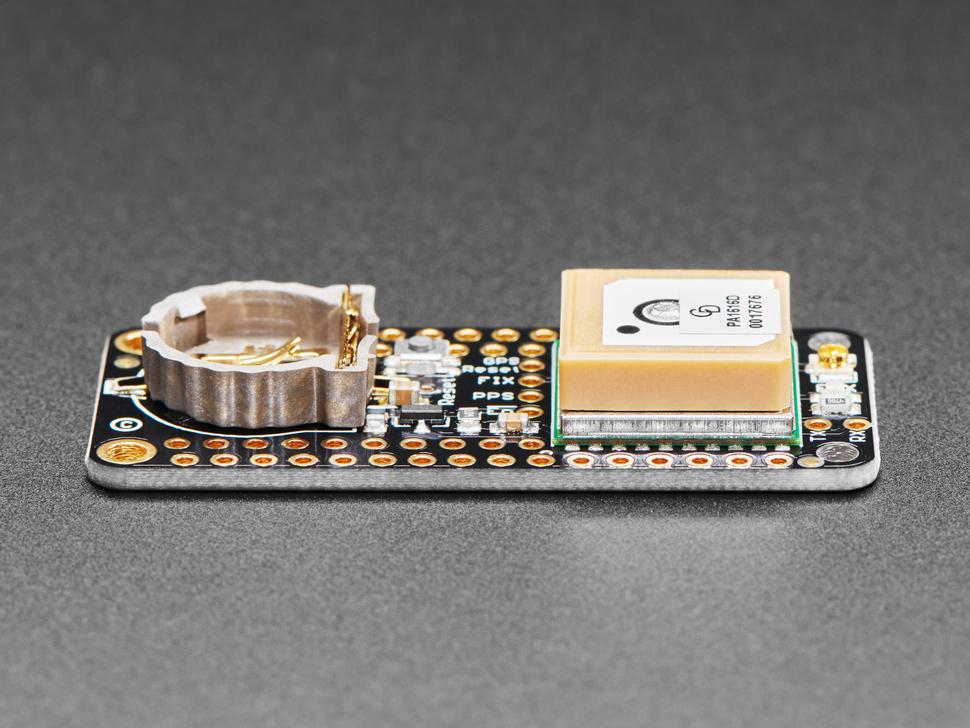 Side shot of Adafruit Ultimate GPS FeatherWing