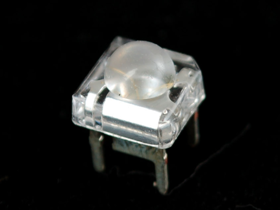 Clear 'Piranha' Super-flux  RGB (tri-color) LED - Common Anode