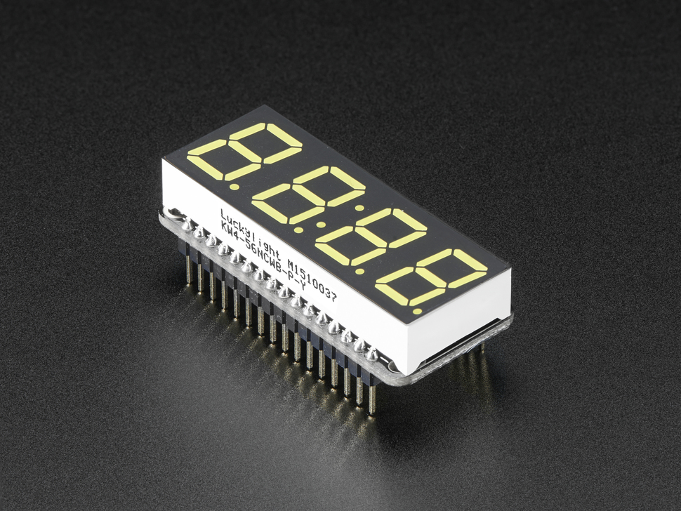 "Adafruit 0.56"" 4-Digit 7-Segment FeatherWing Display"