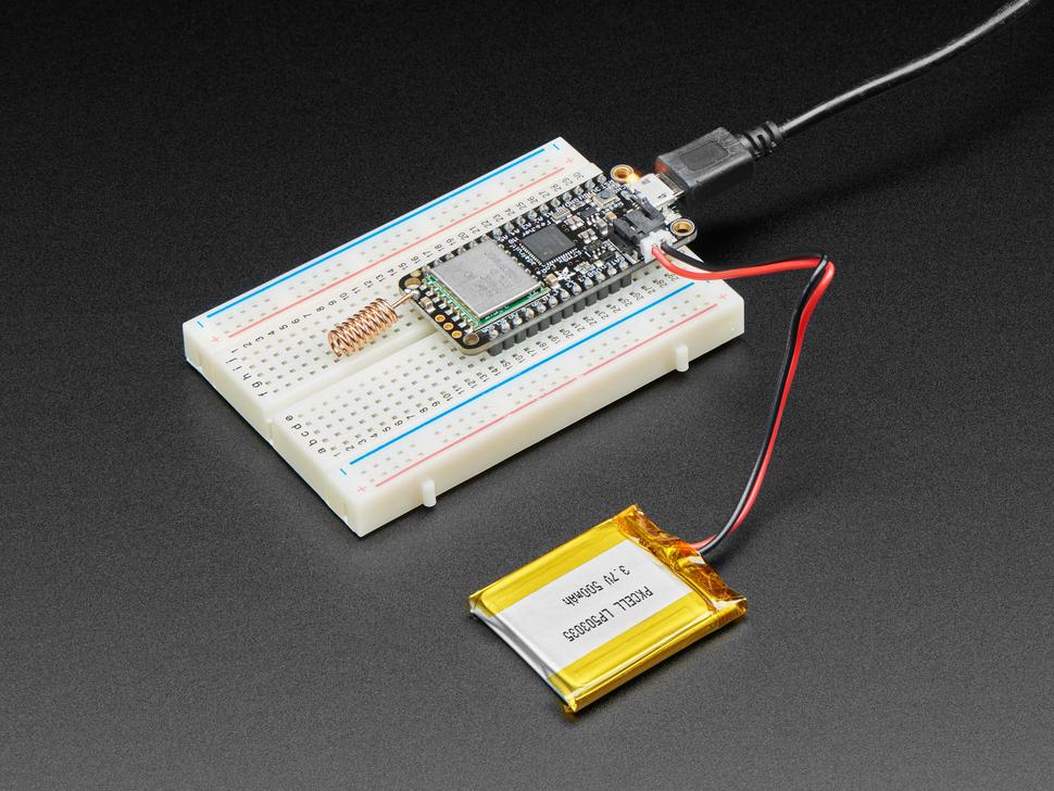 Adafruit Feather M0 with RFM95 LoRa Radio - 900MHz - RadioFruit