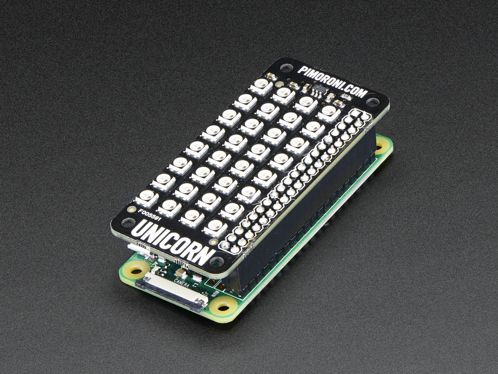 Pimoroni Unicorn pHAT - 4x8 RGB LED Shield for Raspberry Pi