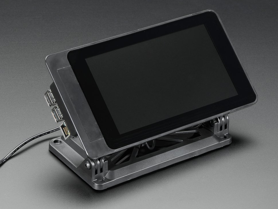 Angled shot of assembled Smarti Pi Touch display.