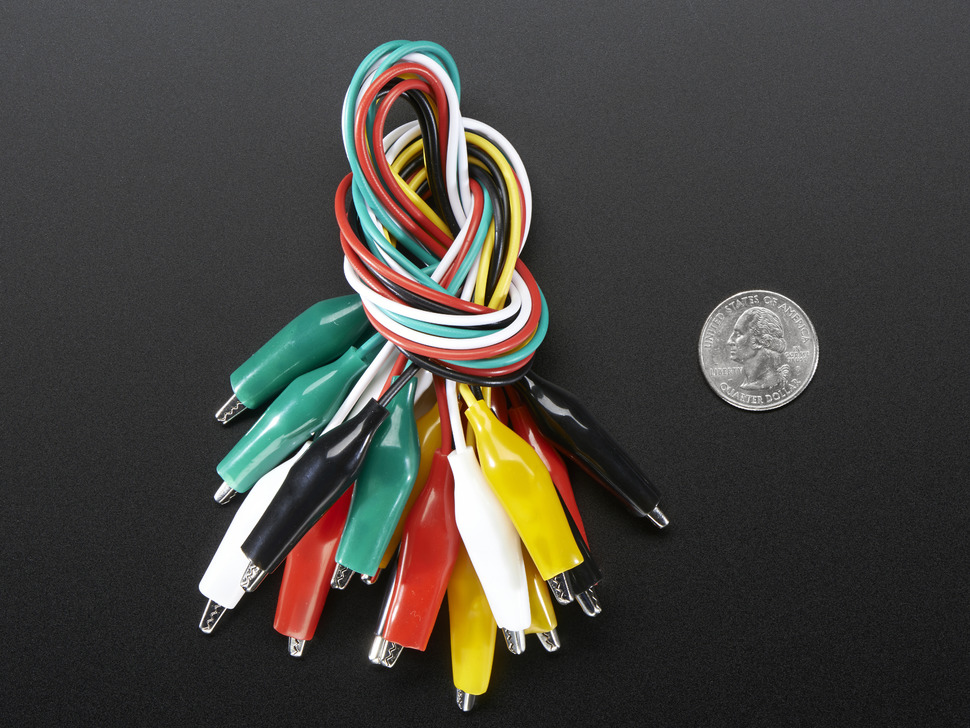 Large Alligator Clip Test Lead (set of 10)
