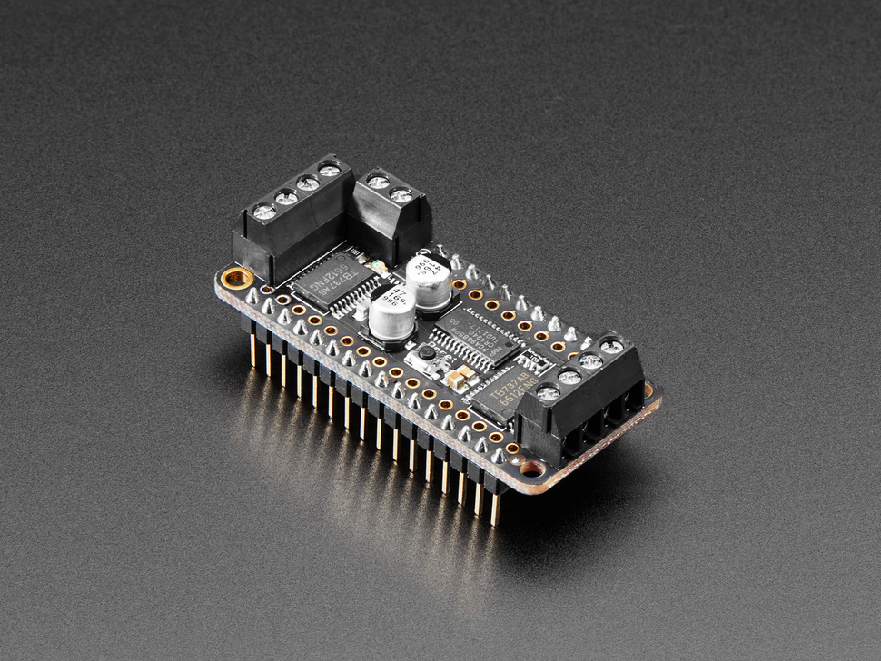 Assembled DC Motor + Stepper FeatherWing Add-on