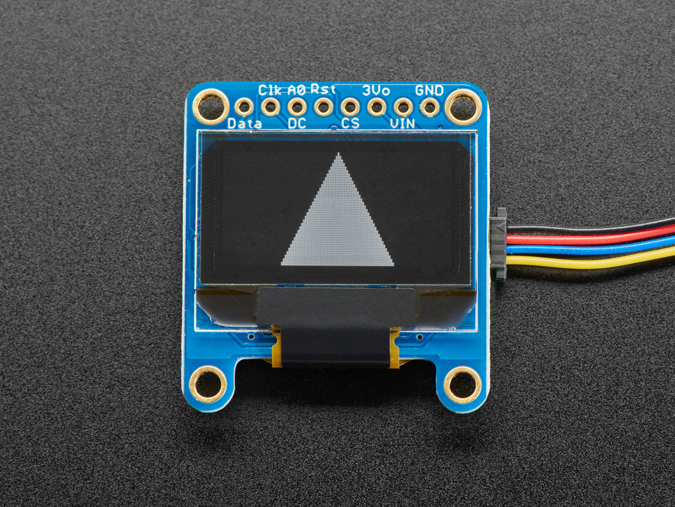 "Monochrome 0.96"" 128x64 OLED Graphic Display - STEMMA QT"