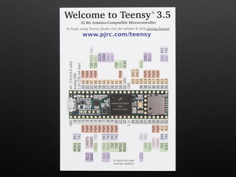 Teensy 3 5 Without Headers Id  3267