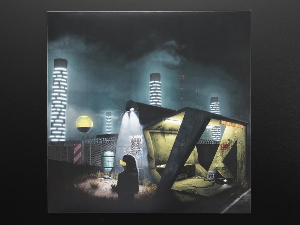 Cover artwork featuring a forty-third century metropolitan utopia.