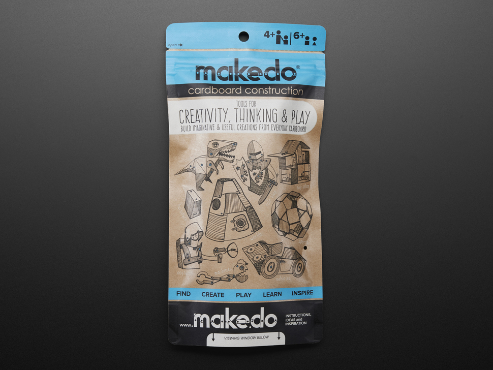 Makedo Toolkit for Cardboard Construction