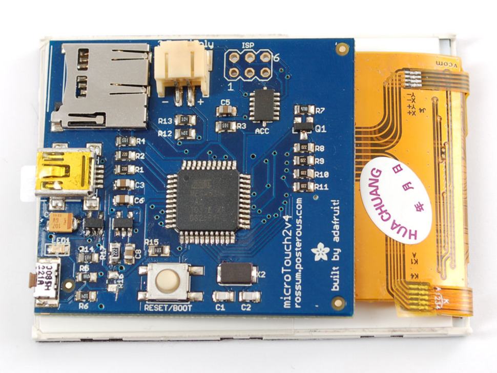 "Microtouch - AVR development board with 2.8"" TFT Touch Screen"