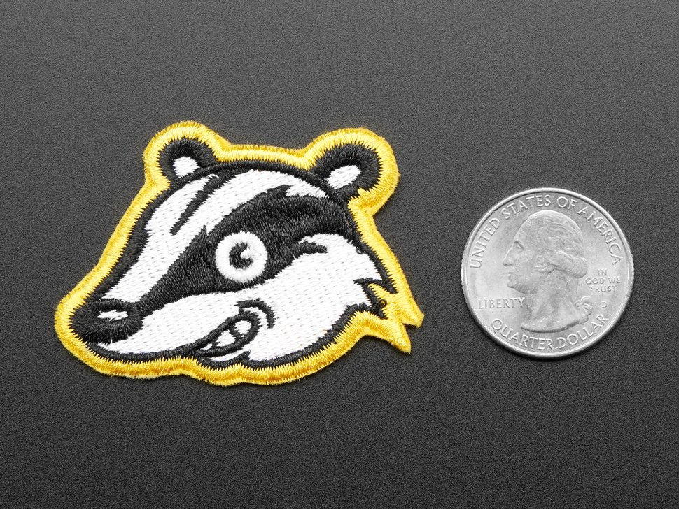 Privacy Badger - Skill badge, iron-on patch