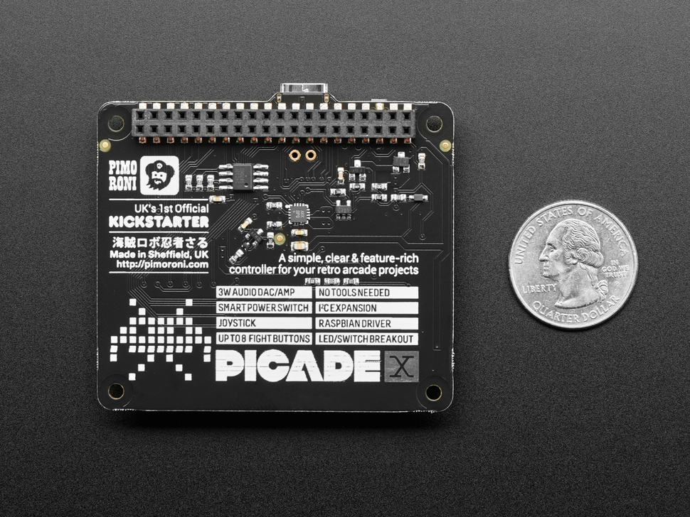 Pimoroni Picade X HAT USB-C for Raspberry Pi - PIM462