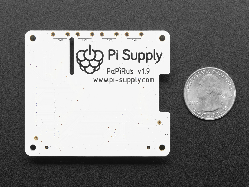 "PaPiRus 2.7"" eInk Display HAT for Raspberry Pi from Pi Supply"