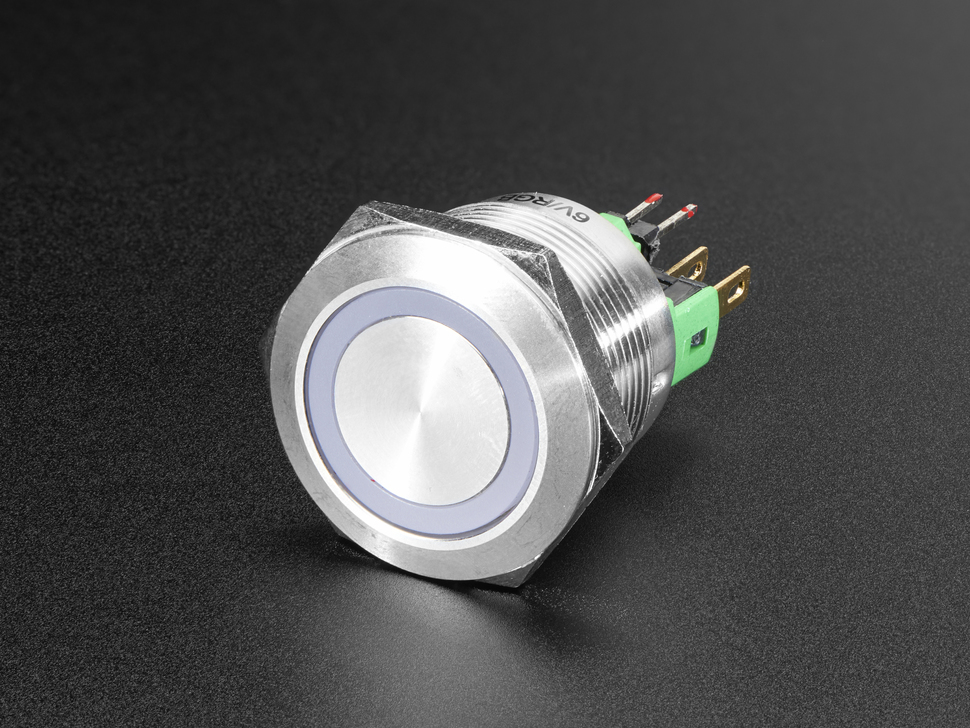 Rugged Metal Pushbutton - 22mm 6V RGB Momentary