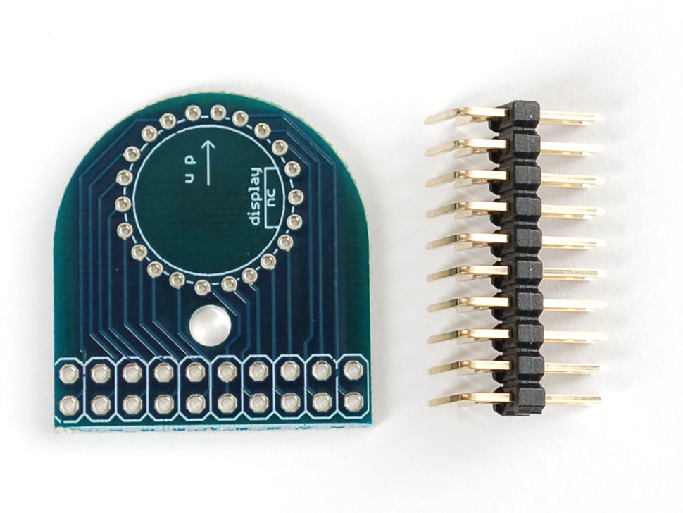Rounded PCB and loose header