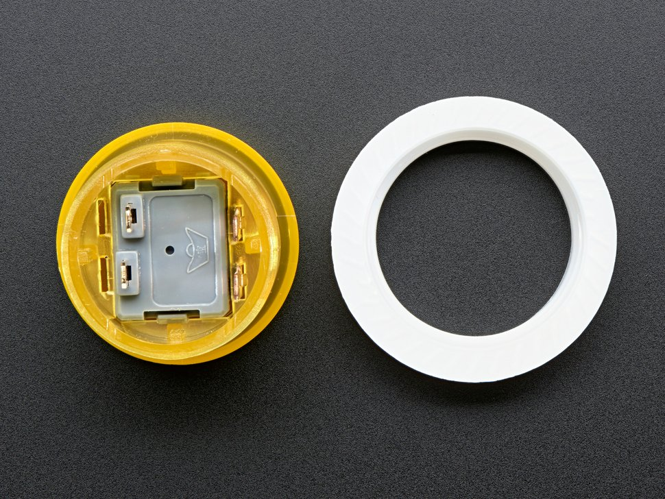 Mini LED Arcade Button - 24mm Translucent Yellow