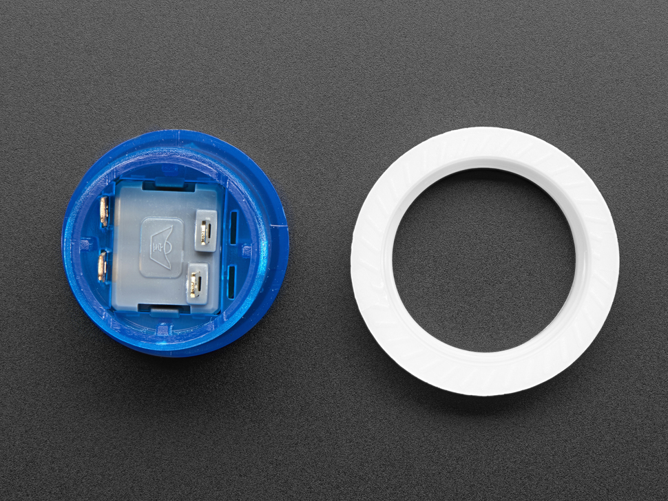 Mini LED Arcade Button - 24mm Translucent Blue