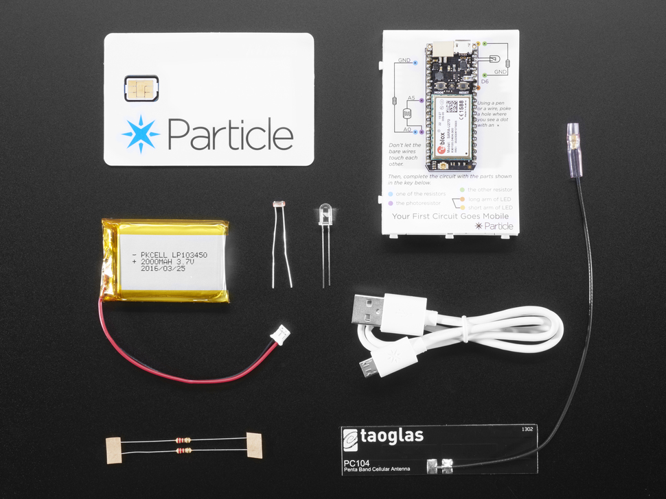 Particle Electron Cellular IoT Kit - 3G Eur/Afr/Asia