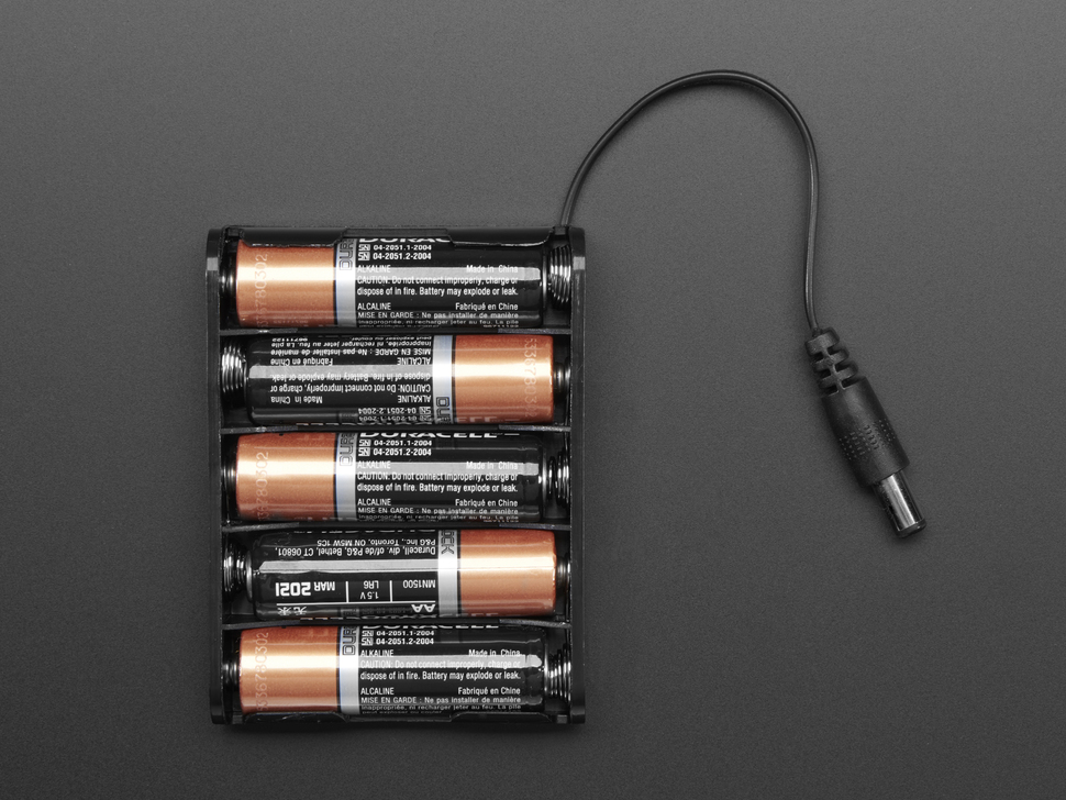 5 x AA Battery Holder with 2.1mm DC Jack
