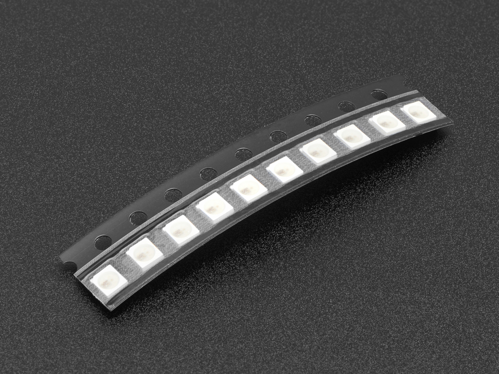 NeoPixel Nano 2427 RGB LEDs w/ Integrated Driver Chip - 10 Pack