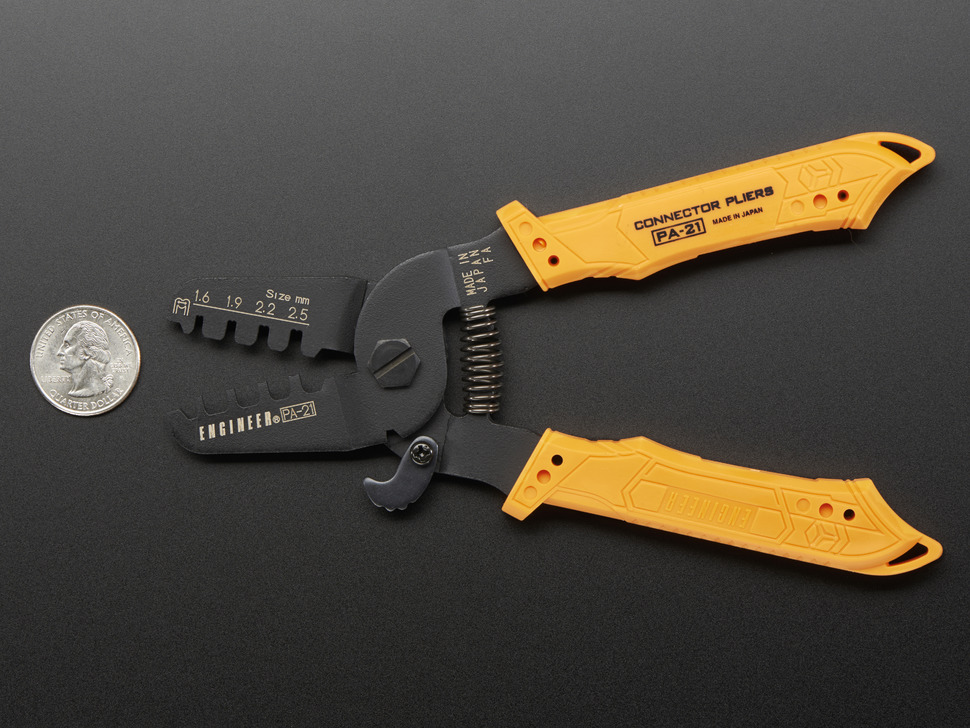 Crimping Pliers next to quarter