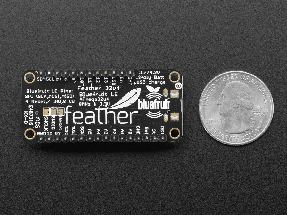 Adafruit Feather 32u4 Bluefruit LE - with or without headers