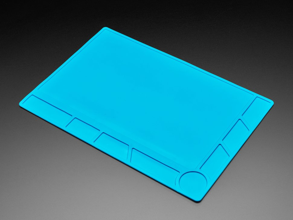 Large blue silicone mat